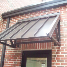 An aluminum sunshade made by Tennessee Valley Metals for the Farmstead Baptist Church in Jasper, Alabama.