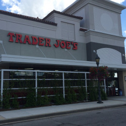 The aluminum canopies that Tennessee Valley Metals made for the Trader Joe's in Birmingham, Alabama.