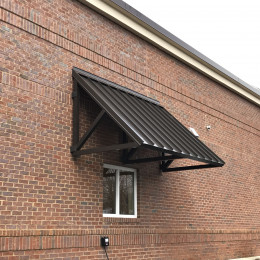 A custom aluminum awning made for