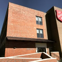 Aluminum awnings made for the Salvation Army office building in Birmingham, Alabama.
